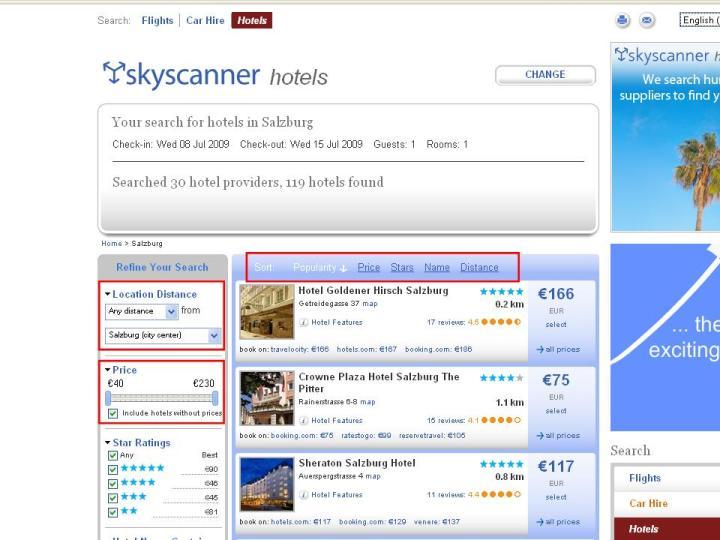 Hotels online buchen